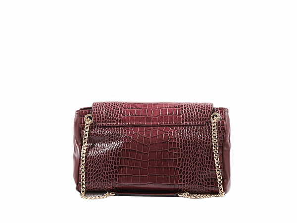 GISELLE BAGUETTE COCCO - BURGUNDY