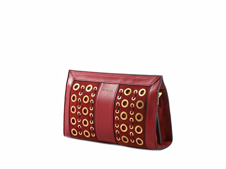 OPHELIA CONTINENTAL CLUTCH - DARK RED