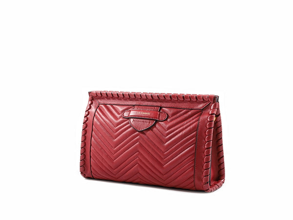 OPHELIA QUILTED CLUTCH - RED