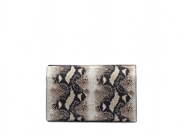 OPHELIA CONTINENTAL CLUTCH LEATHER - ROCK SNAKE