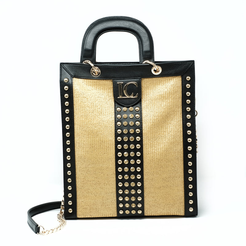 JOSEPHINE LONG SHOPPER - GOLD/BLACK