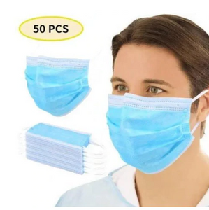 50 piece protective face mask barrier shield Non-medical