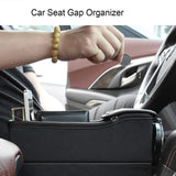 Leather car seat crevice holder