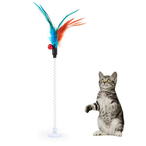 Feather wand - interactive cat toy