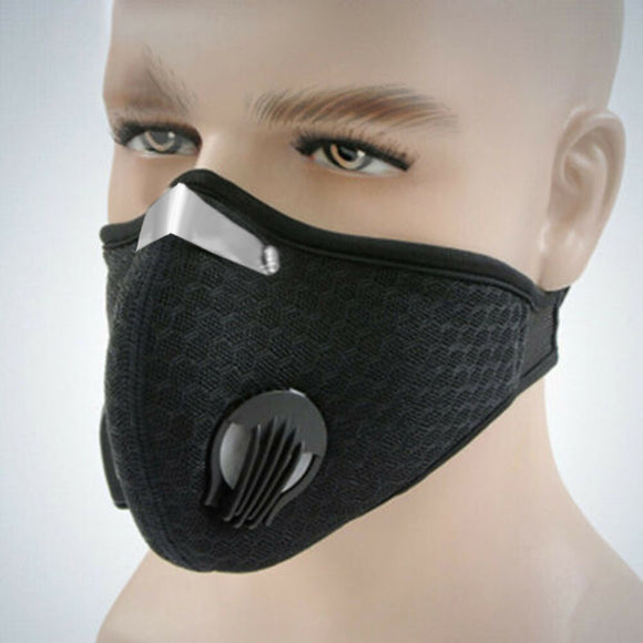 Active outdoor face mask barrier shield