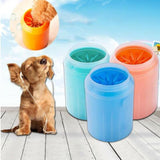 Portable pet paw washer