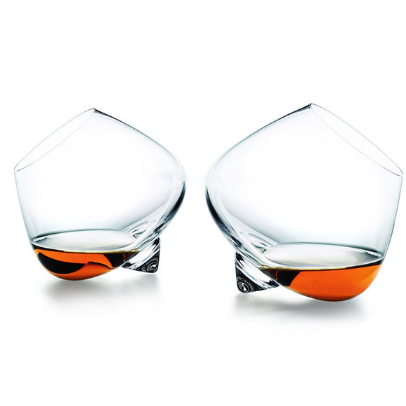 Rotating whiskey glasses - set of 2