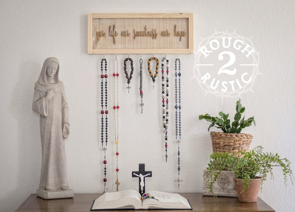 Natural Our Life Our Sweetness Our Hope (Hail, Holy Queen) Rosary Hanger