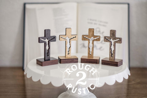 3.5 Inch Standing Silhouette Style Crucifix