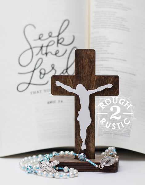 5.5 Inch Standing Traditional Style Crucifix