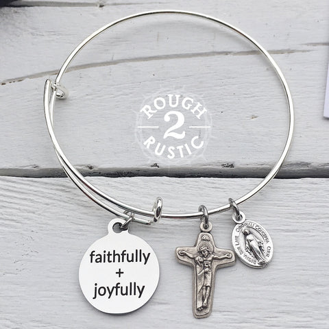 faithfully + joyfully Charm Bracelet
