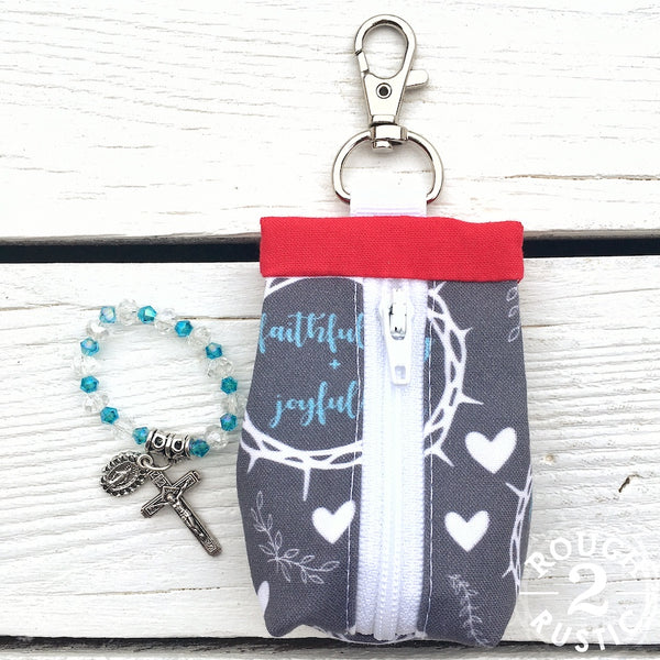 Gift Set - Pocket Decade Rosary and Rosary Pouch