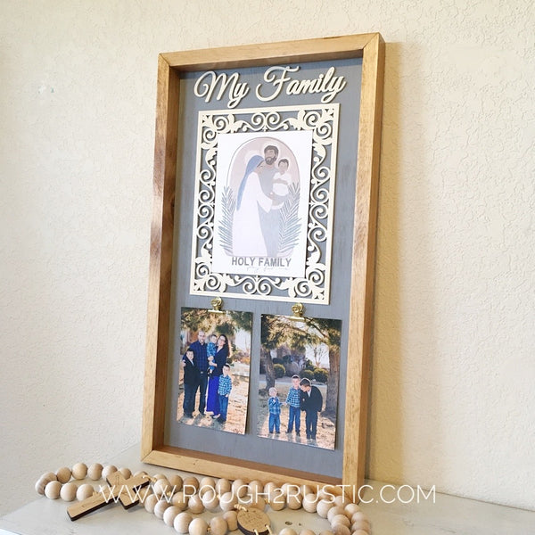 """My Family"" Holy Family Photo Board"