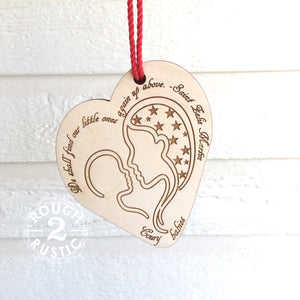 Mary and Child Engraved Ornament with St Zelie Martin Quote