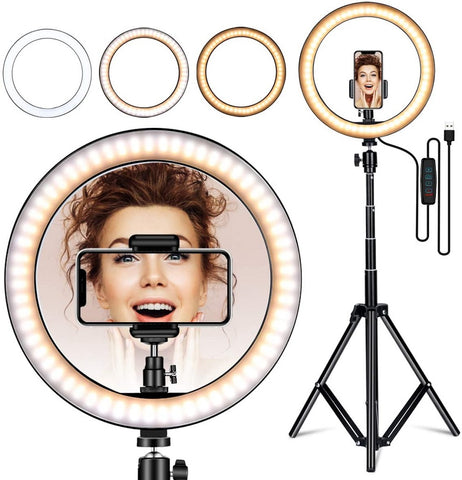 10inch 160CM Ring light with stand phone holder tripod for Live Stream/Makeup