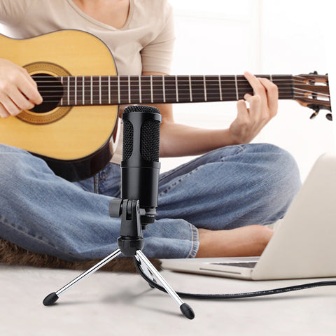 Streaming USB Microphone Metal Condenser Microphones for Laptop Computer Recording Studio Streaming Karaoke Youtube TIKTOK