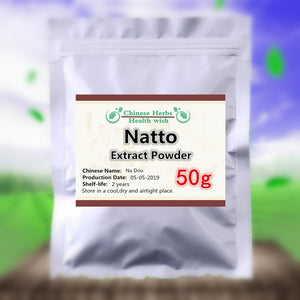 50-1000g,100% Organic Natto Extract Powder,nattokinase powder,Na Dou,High quality and High Value Nutrition supplement