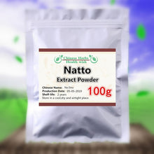 Load image into Gallery viewer, 50-1000g,100% Organic Natto Extract Powder,nattokinase powder,Na Dou,High quality and High Value Nutrition supplement