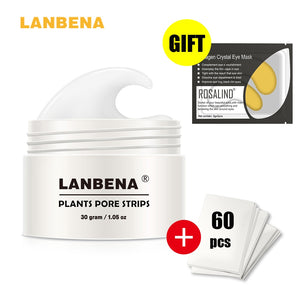 LANBENA To Eliminate Black Dots Facial Mask Nose Acne Remove Blackhead Plants Pore Strips Narrowing Cream Skin Care For Beauty