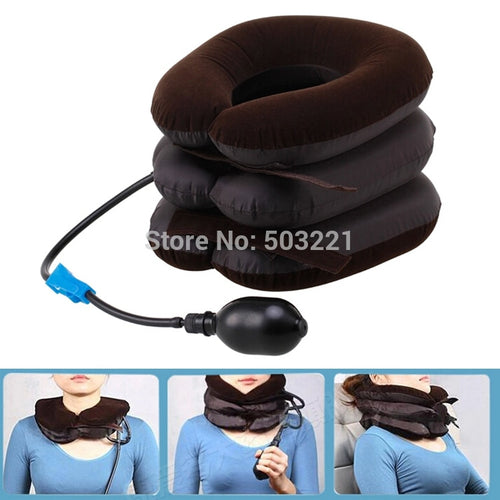 Inflatable Neck Massage Pillow Health Care Neck Relaxation Cervical Soft Neck Device Cervical Traction Comfortable Device Drop