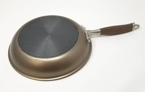 "Advanced Durable Bronze Ultimate Kitchen Pan, Hard Anodized Nonstick 10"" with Comfortable Soft Grip"