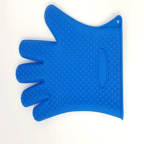 1 Pc Left Hand Light Weight Completly Rubberized Kitchen Gloves - Blue