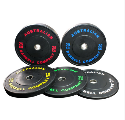 150KG SET BLACK BUMPER PLATES (PAIRS) | Johnson Fitness Australia