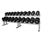FIXED DUMBBELL SET -  BLACK RUBBER PLATE (2.5KG - 25KG)