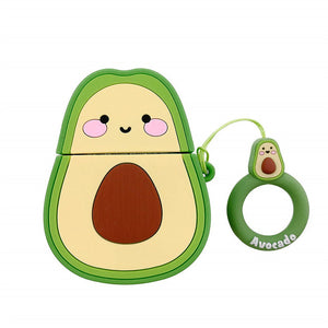 Cute 3D Fruit Cartoon Case Bag Silicone Protective Cover - Purigen