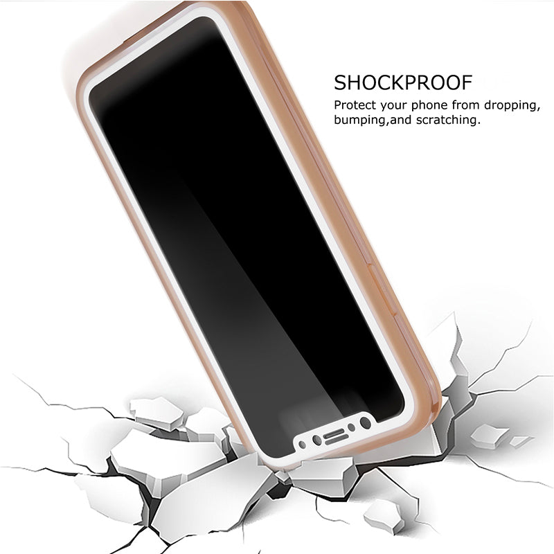 Waterproof Shockproof Hybrid Rubber IPhone Case Cover For iPhone X - Purigen