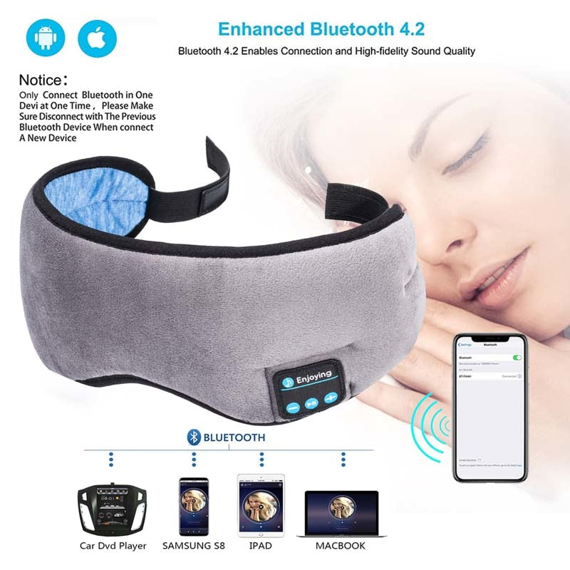 Purigen Wireless Stereo Bluetooth Earphone Sleep Mask - Purigen