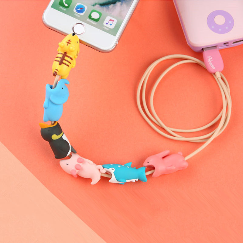Cute Animal Cartoon Anti Breaking Protective Cover for USB Data Cable - Purigen