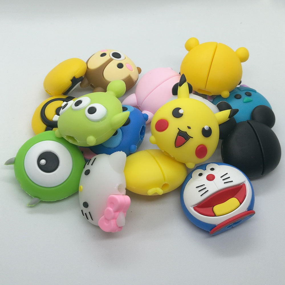 Cute Cartoon animel bite cable protector for iphone - Purigen