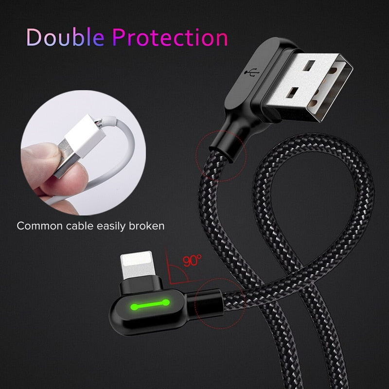 2.4amp Fast Charging Cable For IPhone, Micro, Type C - Black - Purigen