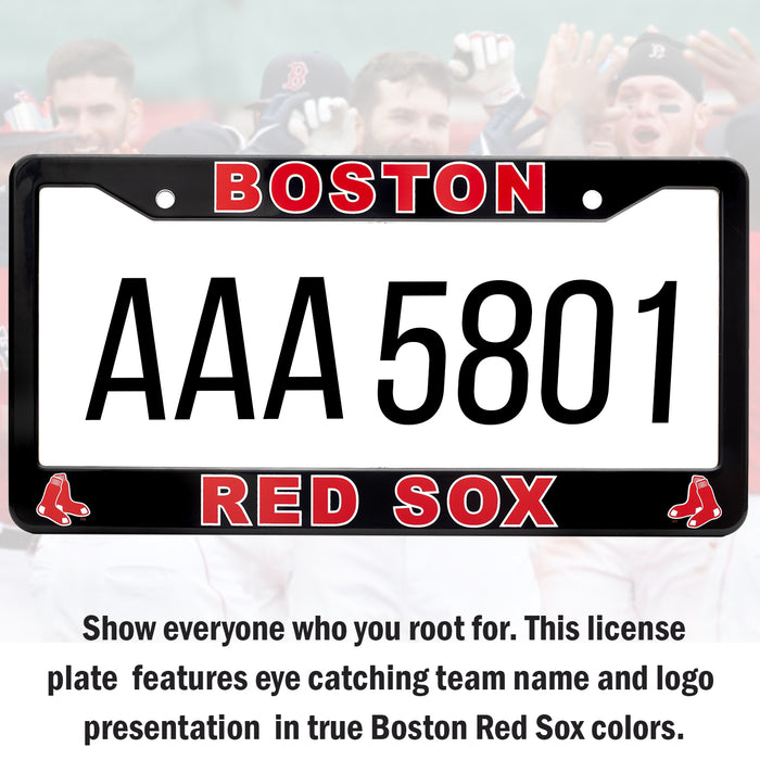 Boston Red Sox License Plate Frame Cover