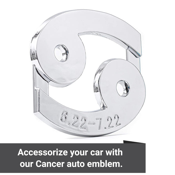 Cancer 3D Chrome Zodiac Auto Emblem & Decal