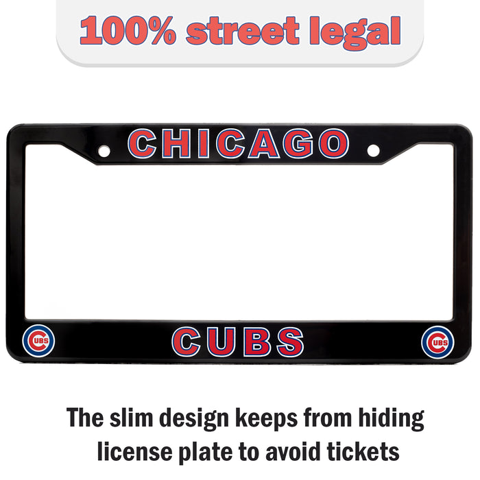 Chicago Cubs License Plate Frame Cover