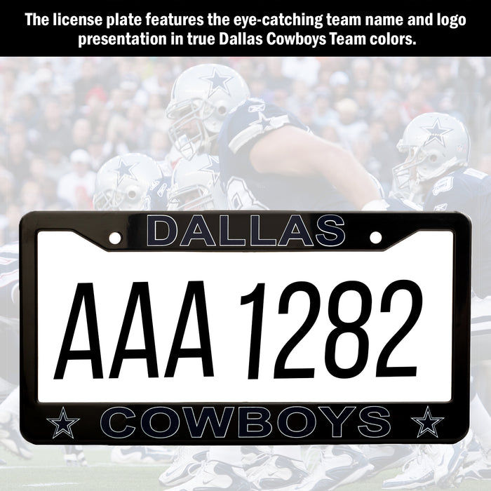 Dallas Cowboys Black License Plate Frame Cover