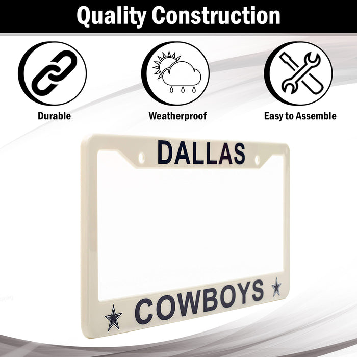 Dallas Cowboys License Plate Frame Cover