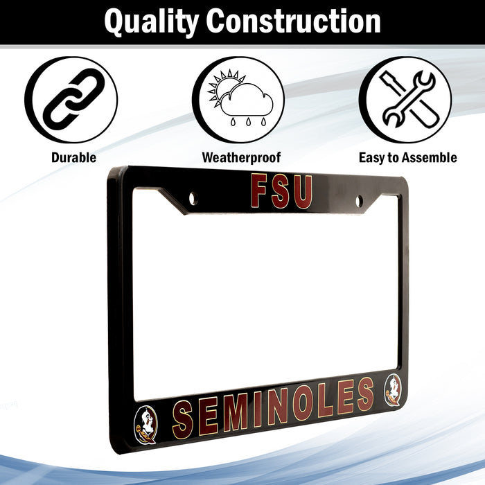 Florida State Seminoles License Plate Frame Cover