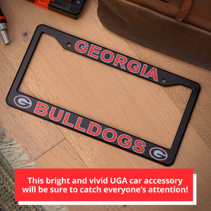 Georgia Bulldogs Black License Plate Frame Cover