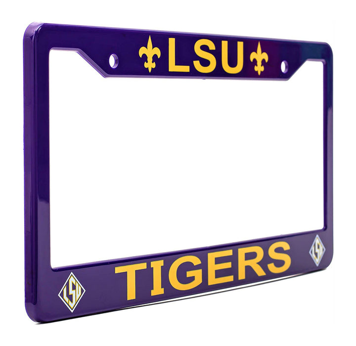 LSU Tigers Purple License Plate Frame Cover