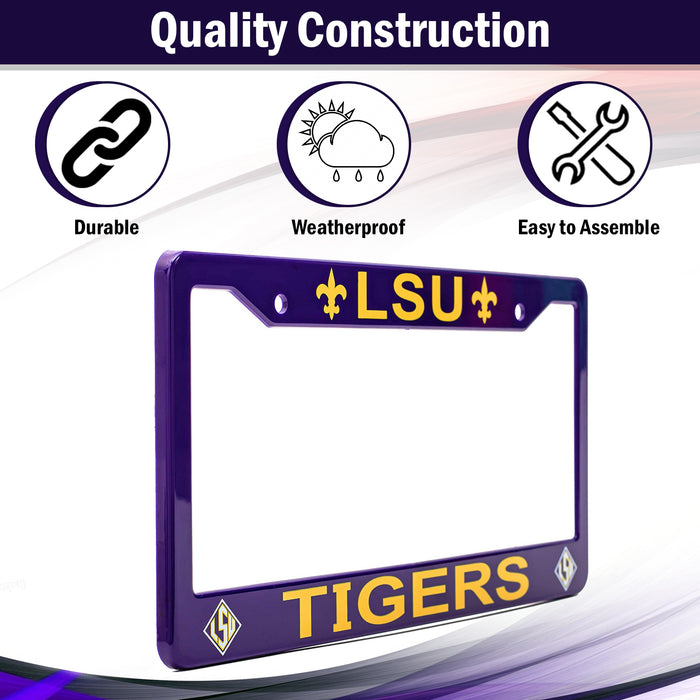 LSU Tigers License Plate Frame Cover