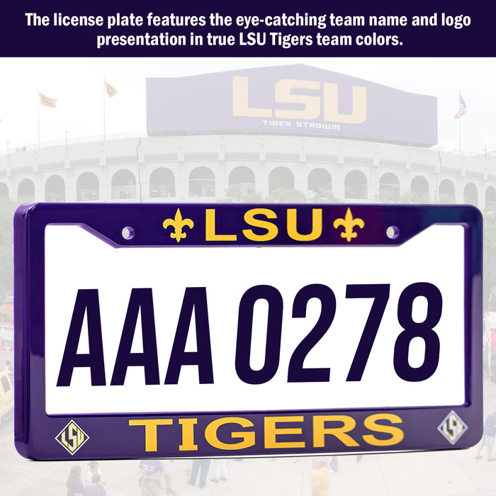 LSU Tigers License Plate Frame Cover | ads