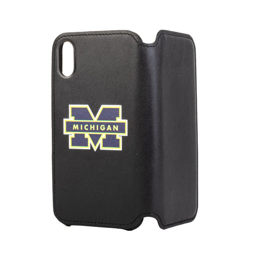 Michigan Wolverines iPhone X Xs Wallet Phone Case And Card Holder