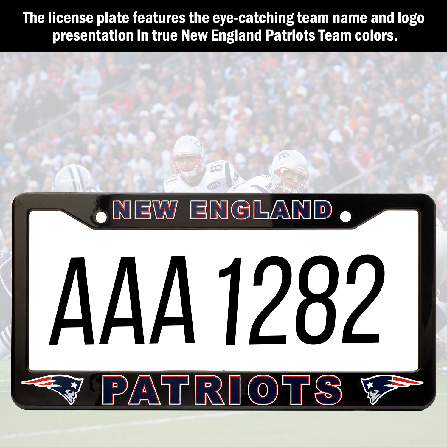 New England Patriots License Plate Frame Cover | ads