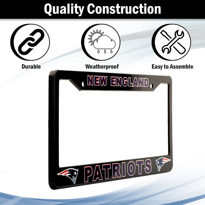 New England Patriots License Plate Frame Cover