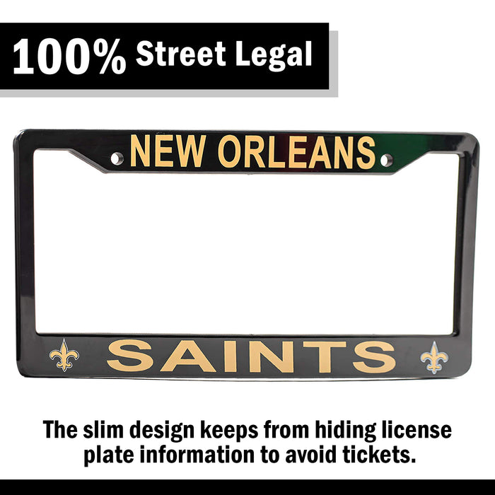 New Orleans Saints License Plate Frame Cover