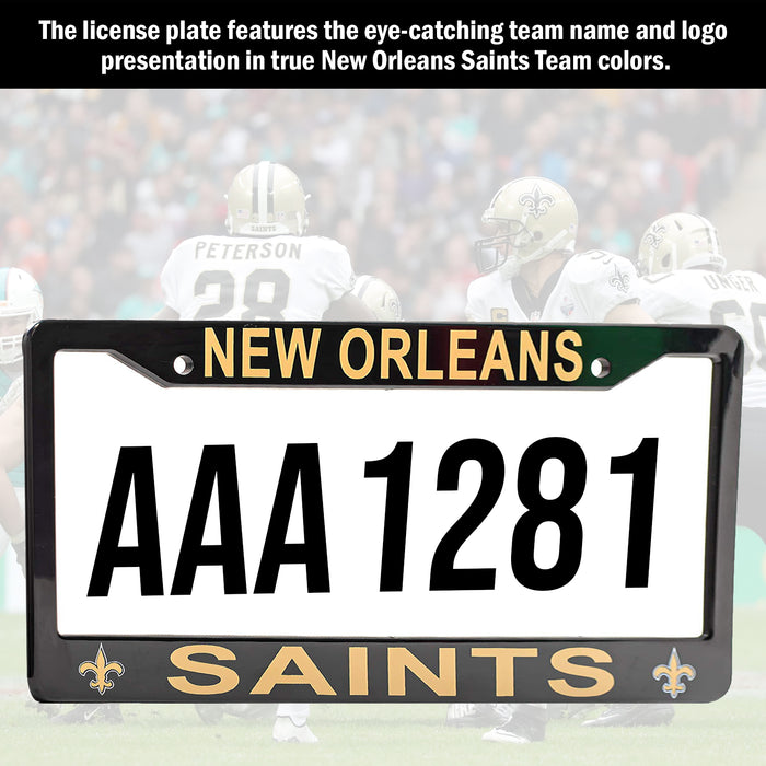 New Orleans Saints License Plate Frame Cover | ads
