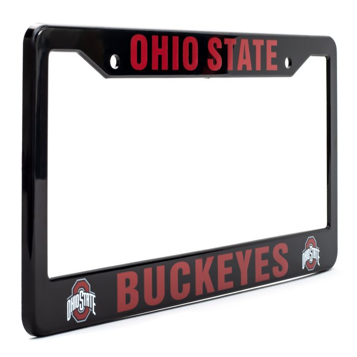 Ohio State Buckeyes Black License Plate Frame Cover